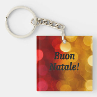 Buon Natale! Merry Christmas in Italian bf Single-Sided Square Acrylic Keychain