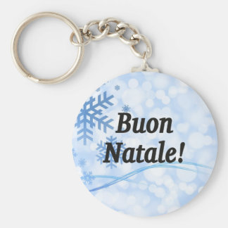 Buon Natale! Merry Christmas in Italian bf Keychain