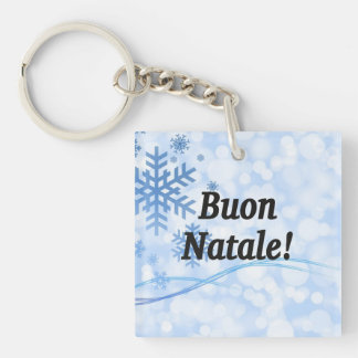 Buon Natale! Merry Christmas in Italian bf Single-Sided Square Acrylic Key Ring