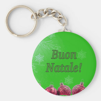 Buon Natale! Merry Christmas in Italian gf Key Chain