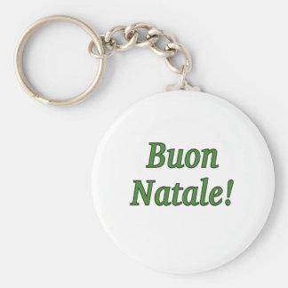 Buon Natale! Merry Christmas in Italian gf Keychain