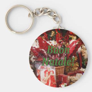 Buon Natale! Merry Christmas in Italian gf Key Chains