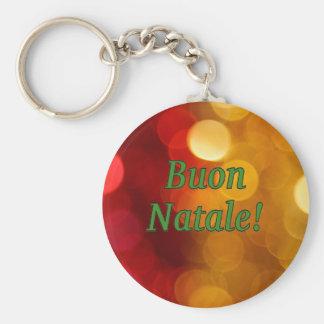 Buon Natale! Merry Christmas in Italian gf Keychains