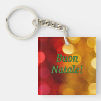 Buon Natale! Merry Christmas in Italian gf Single-Sided Square Acrylic Keychain