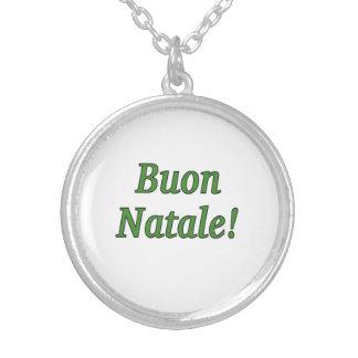 Buon Natale! Merry Christmas in Italian gf Pendants