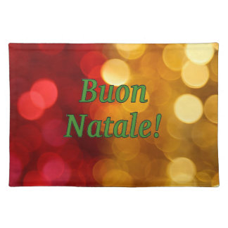 Buon Natale! Merry Christmas in Italian gf Cloth Placemat