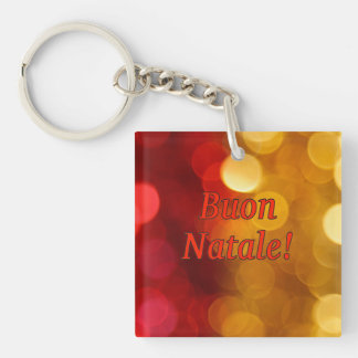 Buon Natale! Merry Christmas in Italian rf Single-Sided Square Acrylic Keychain