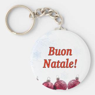 Buon Natale! Merry Christmas in Italian rf Key Chain