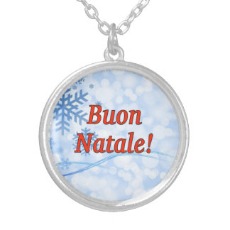 Buon Natale! Merry Christmas in Italian rf Custom Necklace