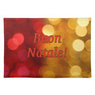 Buon Natale! Merry Christmas in Italian rf Cloth Place Mat