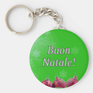 Buon Natale! Merry Christmas in Italian wf Key Chains