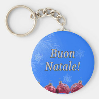 Buon Natale! Merry Christmas in Italian wf Key Chain