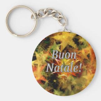 Buon Natale! Merry Christmas in Italian wf Key Chain
