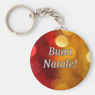 Buon Natale! Merry Christmas in Italian wf Keychain