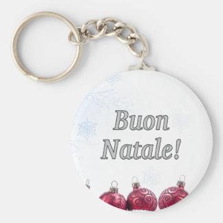 Buon Natale! Merry Christmas in Italian wf Key Chains
