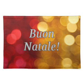 Buon Natale! Merry Christmas in Italian wf Cloth Place Mat