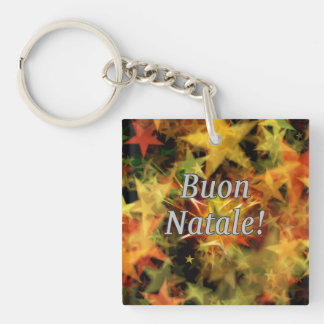 Buon Natale! Merry Christmas in Italian wf Single-Sided Square Acrylic Key Ring