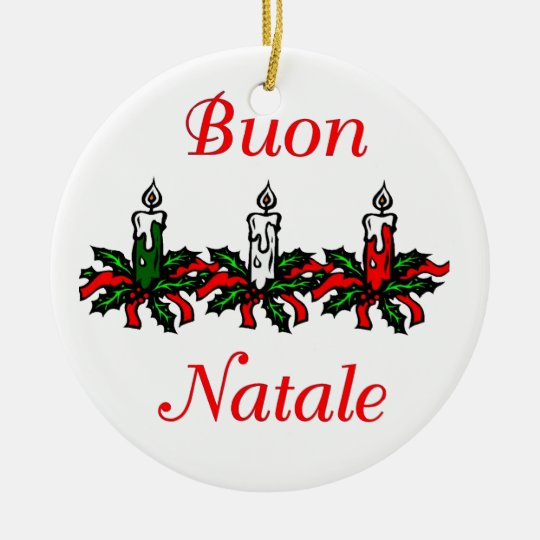 Buon Natale - Merry Christmas Ornament