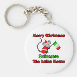 Buon Natale Salvatore The Italian Mouse Key Chains