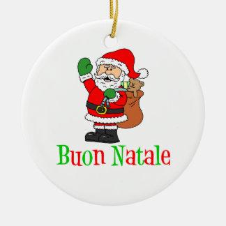 Buon Natale Santa Ornament