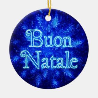 Buon Natale - Snowburst Christmas Ornament