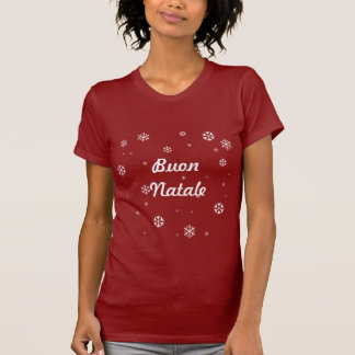 Buon Natale Snowflakes T-Shirt