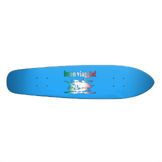 Buon Viaggio Good Trip in Italian Vacations Travel Skateboard Decks