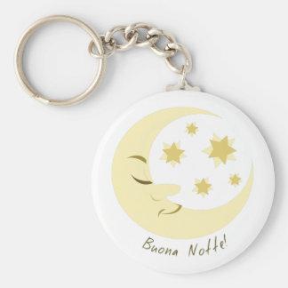 Buona Notte Basic Round Button Keychain