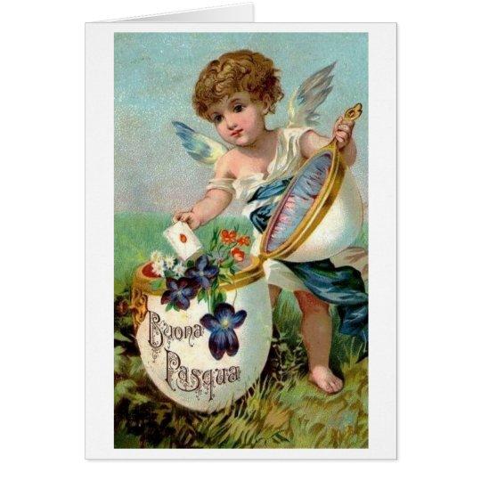 Buona Pasqua! Victorian Italian Easter Card