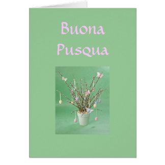 BUONA PUSQUA (HAPPY EASTER ITALIAN) CARD