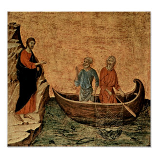 Buoninsegna - Calling of apostles Peter and Andrew Posters