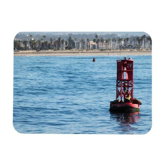 Buoy Sea Lions Rectangular Photo Magnet