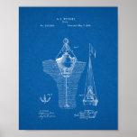 Buoys Patent - Blueprint Poster