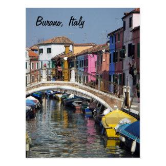 Burano Bridge Postcard