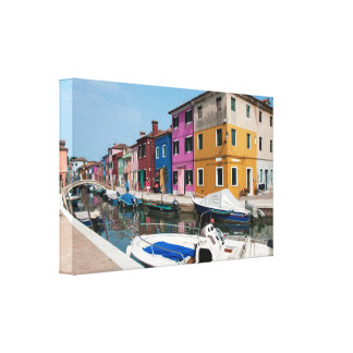 Burano colored houses canvas print