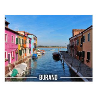 Burano Colorful Houses Postcard