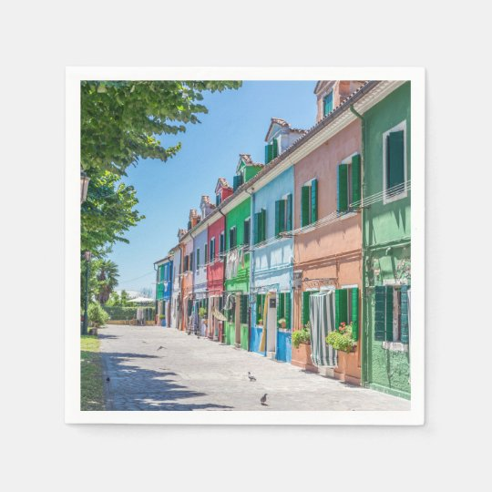 Burano houses paper serviettes