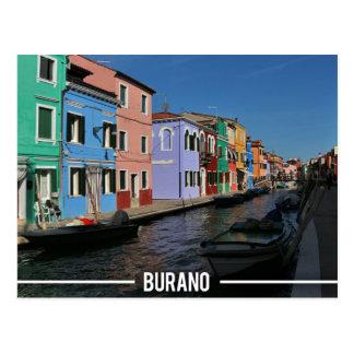 Burano Island, Venice Postcard