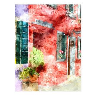 Burano Italy Buildings Postcard