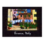 Burano Italy Postcard