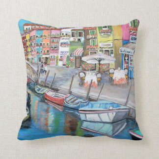 Burano, Italy - Throw Pillow