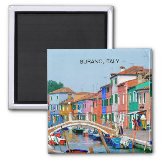 BURANO VENICE, ITALY (MAGNET) SQUARE MAGNET