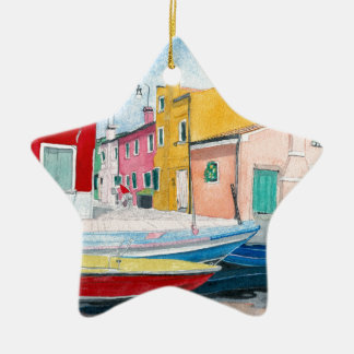 Burano Vienna Italy Christmas Ornament