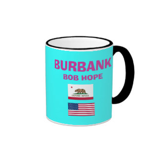 Burbank* Bob Hope BUR Airport Code Cup Ringer Mug