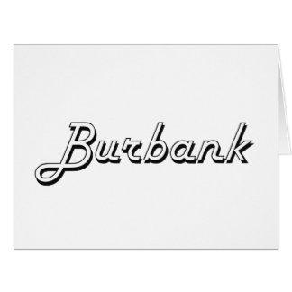 Burbank California Classic Retro Design Big Greeting Card