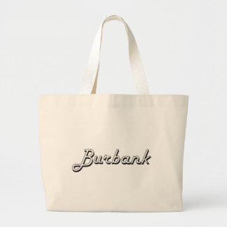Burbank California Classic Retro Design Jumbo Tote Bag