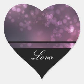 Burbujas rosadas pegatinas de corazon