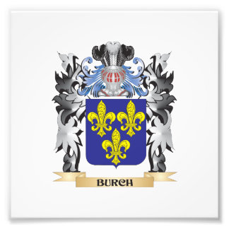 Burch Coat of Arms - Family Crest Photo Print