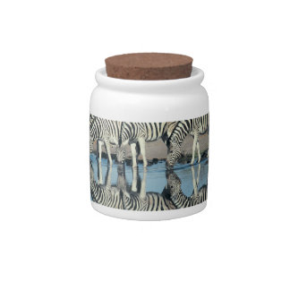 Burchells Zebra (Equus burchelli) Candy Dishes