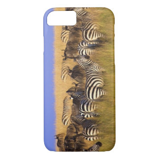 Burchell's Zebras and Wildebeest in tall summer iPhone 8/7 Case
